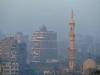 Morning, minaret, smog, Cairo.